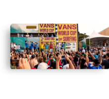 The 2011 VANS World Cup of Surfing trophy goes to John John Florence. Canvas Print