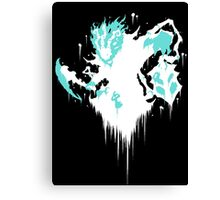 Thresh Ink Black Canvas Print