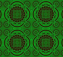 Green and Brown Mandala by buzatron