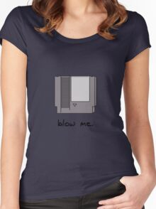 Blow me! Women's Fitted Scoop T-Shirt