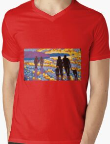 Shore Walk Mens V-Neck T-Shirt
