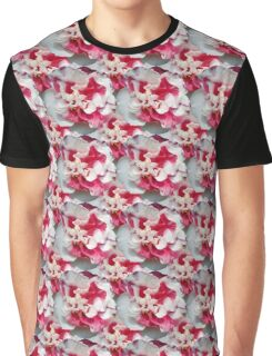 Natural Blooming Flowers -  Red & White Camellias Graphic T-Shirt