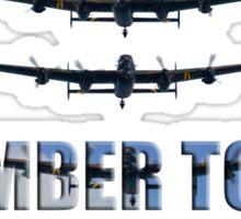 Lancaster bomber tour 2014 Sticker