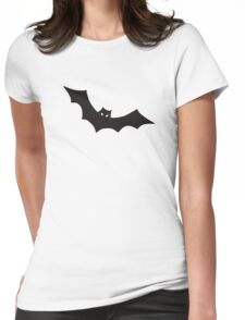 Black bat Womens Fitted T-Shirt