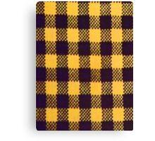 YELLOW BUFFALO PLAID SMARTPHONE CASE (Phoney) Canvas Print