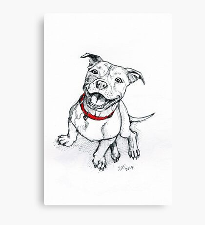 Happy Staffie Canvas Print