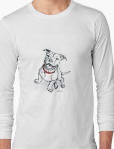 Happy Staffie Long Sleeve T-Shirt