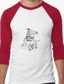 Happy Staffie Men's Baseball ¾ T-Shirt