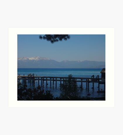 View of Lake Tahoe from Sugar Pine Point Art Print