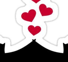 Bats love red hearts Sticker