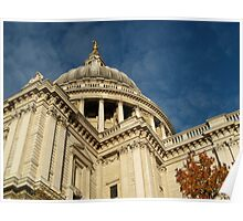 Autumn at St. Pauls Poster