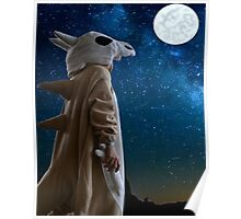 Lonely Cubone Under the Night Sky Poster