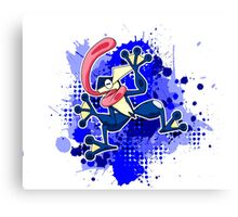Greninja Makes A Splash Canvas Print