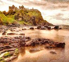 Evening at Dunluce Castle by Nigel R Bell