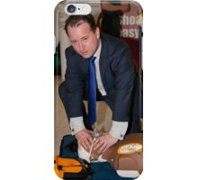 Councillor Peter Fortune at INTU shopping centre iPhone Case/Skin