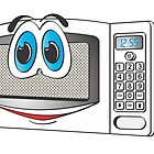 White Male Microwave Cartoom by Graphxpro
