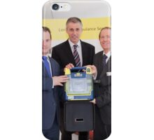 London Ambulance Service show the public  how to use a Defibrillator iPhone Case/Skin