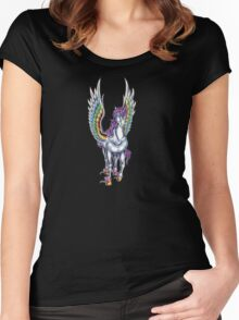 Winged Unicorn Women's Fitted Scoop T-Shirt