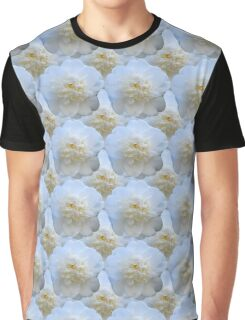 Natural Blooming Flowers - White Camellias Graphic T-Shirt