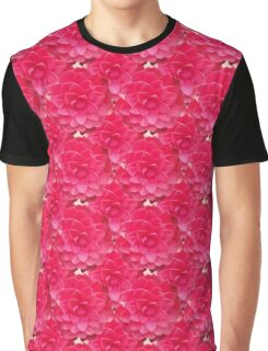 Natural Blooming Flowers - Red Camellias Graphic T-Shirt