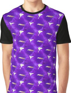 Natural Blooming Flowers - Purple Cantebury Bells Graphic T-Shirt