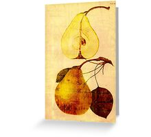 Copper Pear Greeting Card
