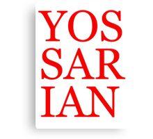 Literary T-Shirts: Yossarian Canvas Print
