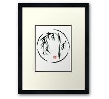 *  VISIONARY Original sumi-e enso ink brush wash painting Framed Print