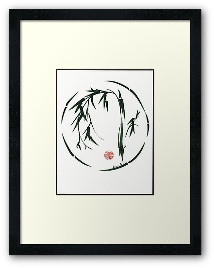 *  VISIONARY Original sumi-e enso ink brush wash painting by Rebecca Rees