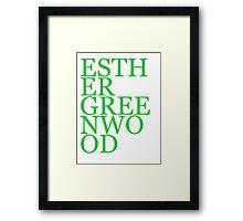 Literary Heroes: Esther Greenwood Framed Print