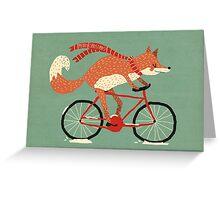 mr. fox christmas card Greeting Card