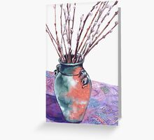 Pussy Willow Bouquet Greeting Card