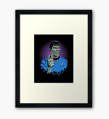 Live Long and Brains Framed Print