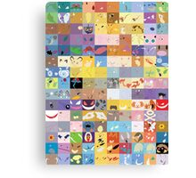 All 150 Catchable Pokemon Wallpapers Canvas Print