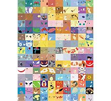 All 150 Catchable Pokemon Wallpapers Photographic Print
