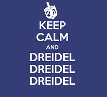 Keep Calm and Dreidel Womens Fitted T-Shirt