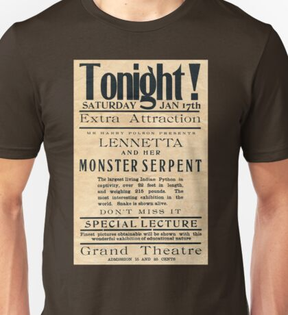 Lennetta and her Monster Serpent Unisex T-Shirt