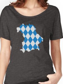 Bavaria map flag Women's Relaxed Fit T-Shirt