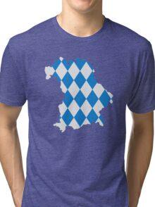 Bavaria map flag Tri-blend T-Shirt