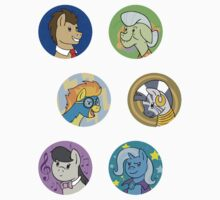 Sticker Badges - My Little Pony Secondaries! by TipsyKipsy