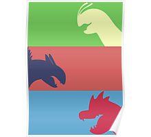 Pokemon Starters -  Gen 2 Poster