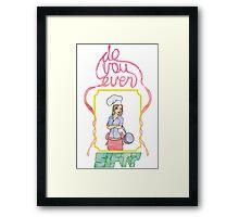 Do You Even Sift Framed Print