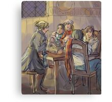 The Three Broomsticks Canvas Print