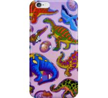 Several colorful dinosaurs iPhone Case/Skin