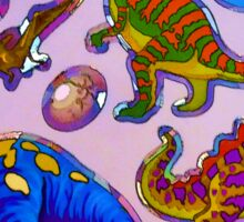 Several colorful dinosaurs Sticker