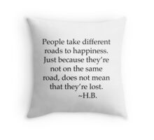 Different Paths Throw Pillow