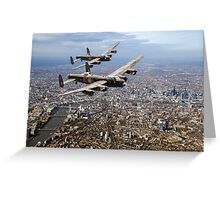 Two Lancasters over London Greeting Card