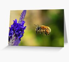 Bee-Line to My Flowers Greeting Card