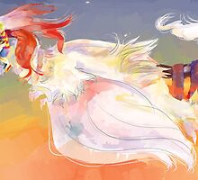 Sunset Reshiram Print by Saggi