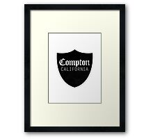 COMPTON, CALIFORNIA - TSHIRT Framed Print